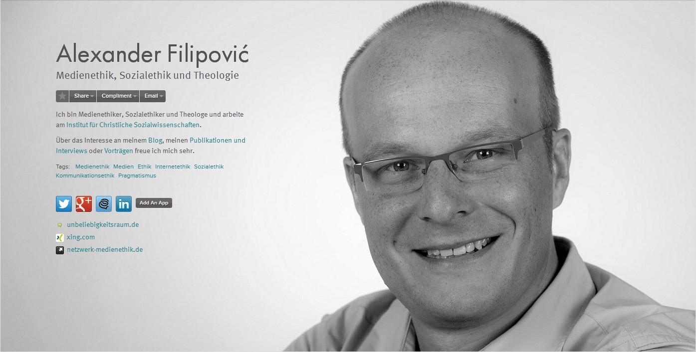 Portrait von Alexander Filipovic